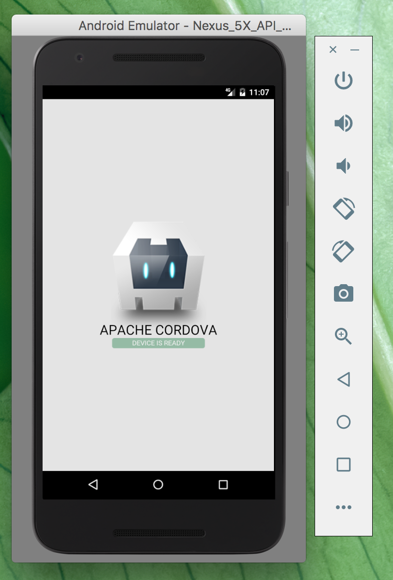 Default Cordowa app in android