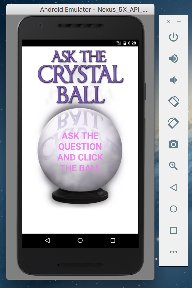 Crystal ball app on android